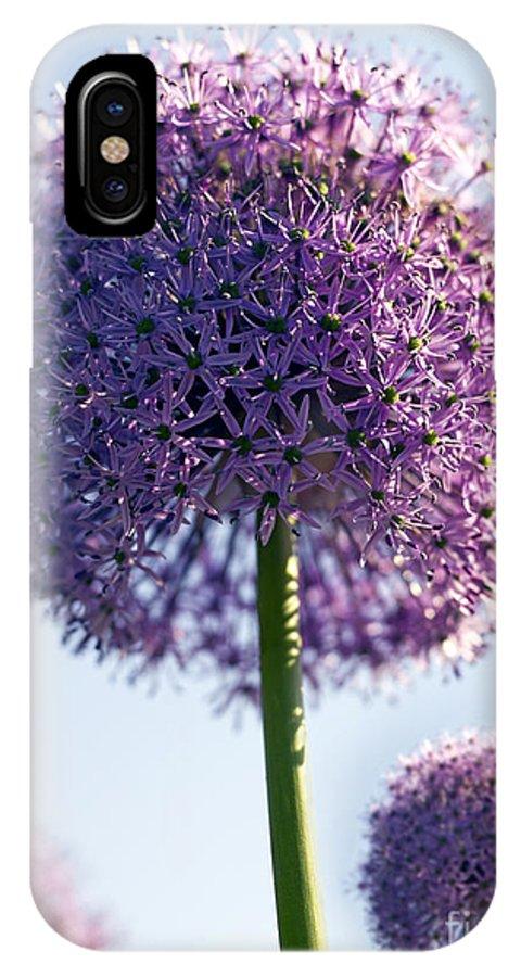 Allium IPhone X Case featuring the photograph Allium Flower by Tony Cordoza