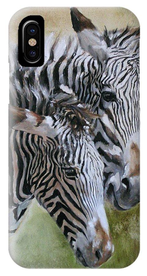 Wildlife Art IPhone Case featuring the painting Almost Grown by Debra Jones