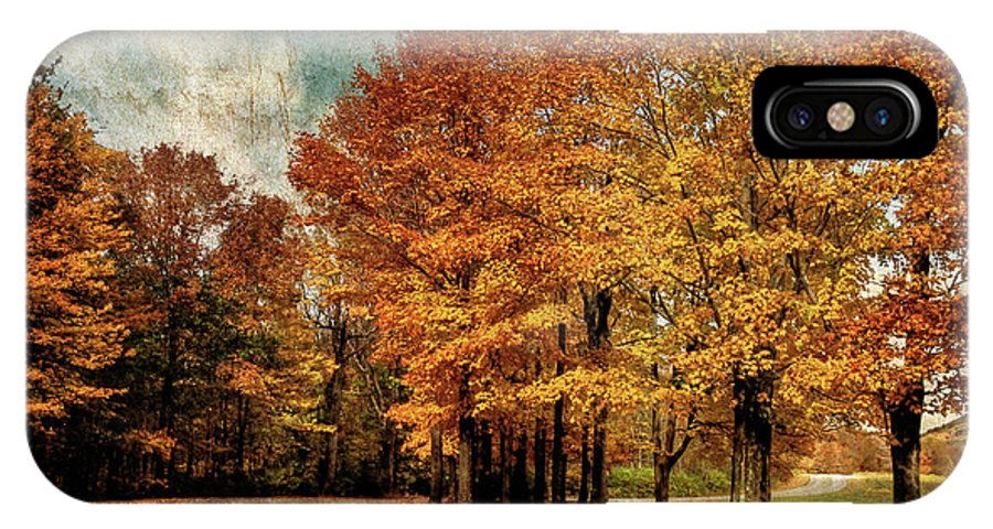 Country Road IPhone X Case featuring the photograph Almost Home by Lois Bryan