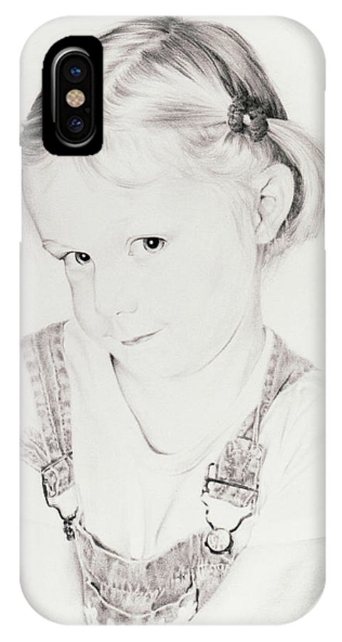 Portrait IPhone X Case featuring the drawing Almost Perfect by Rachel Christine Nowicki