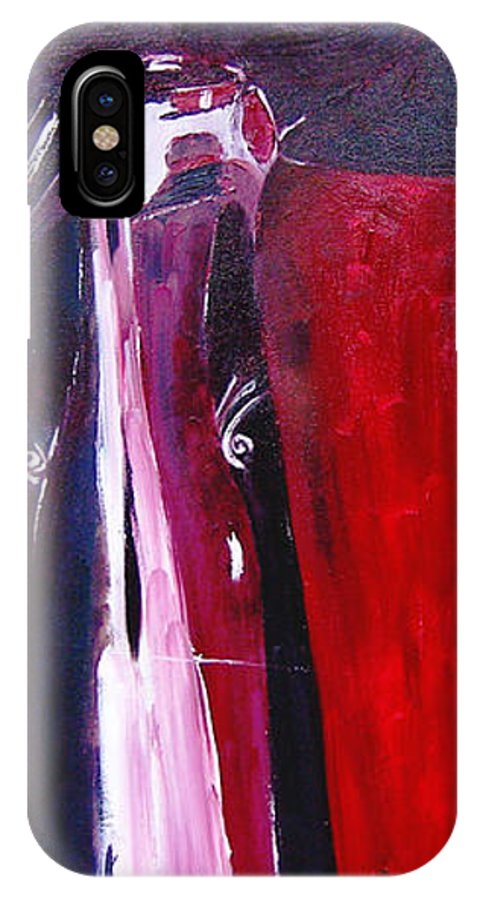 Figurative IPhone X / XS Case featuring the painting Almost Still Life by Olga Alexeeva