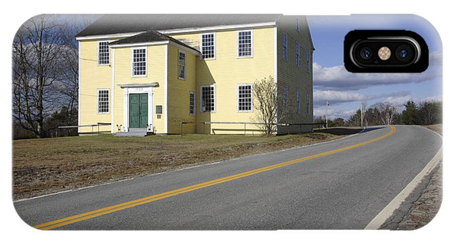 Buildings IPhone X Case featuring the photograph Alna Meetinghouse - Alna Maine Usa by Erin Paul Donovan