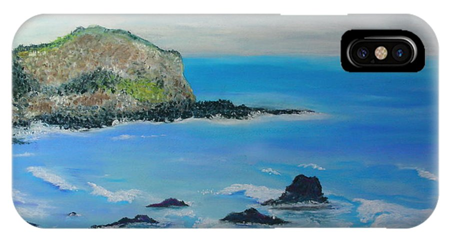 Hawaii IPhone X Case featuring the painting Aloha by Melinda Etzold