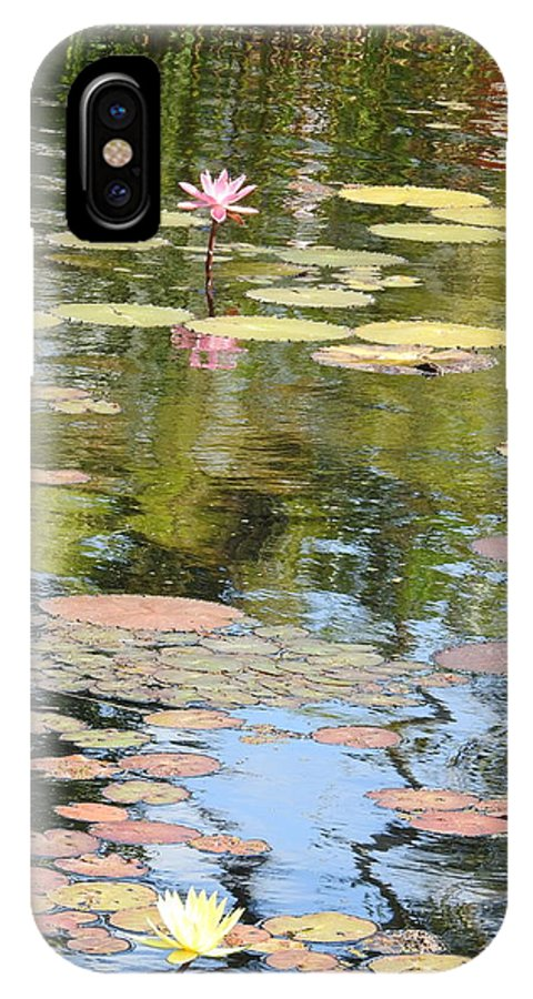 Waterlily IPhone X Case featuring the painting Alone With My Thoughts by Vincent Guariglia