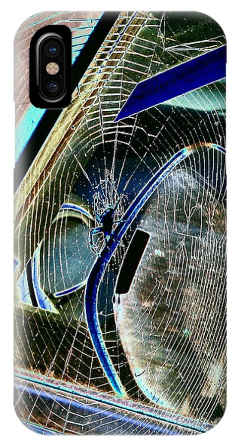 Spider IPhone X / XS Case featuring the photograph Along Came A Spider by Jacqueline McReynolds