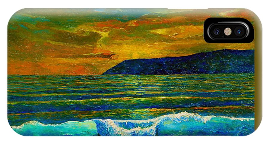 Seascape IPhone Case featuring the painting Along The African Coast by Michael Durst
