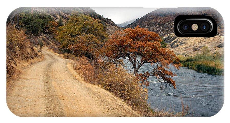 Klamath River IPhone X Case featuring the photograph Along The Kalamath - Oregon by D'Arcy Evans