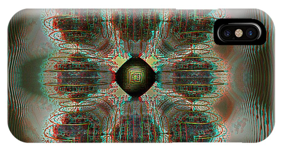 3d IPhone X Case featuring the photograph Alpha Waves - View With Red-cyan 3d Glasses by Brian Wallace