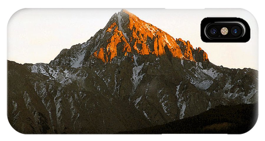 Alpine Glow IPhone X Case featuring the painting Alpine Glow by David Lee Thompson