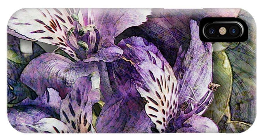 Flowers IPhone X Case featuring the digital art Alstroemeria by Barbara Berney