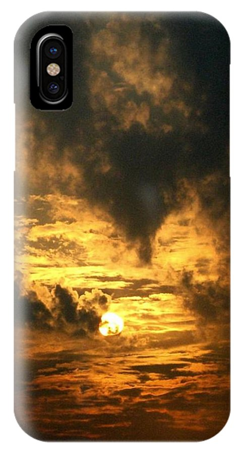 Daybreak IPhone X Case featuring the photograph Alter Daybreak by Rhonda Barrett