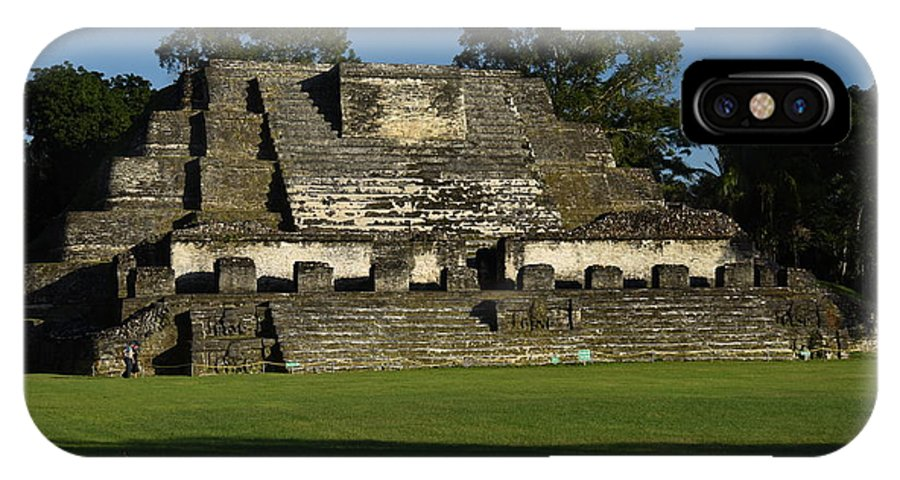 Belize IPhone X Case featuring the photograph Altun Ha Mayan Temple by Ron Brown Photography