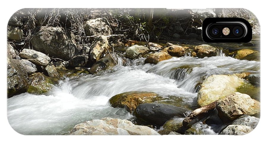 Water IPhone X Case featuring the photograph Always Rushing by Tammy Stoner