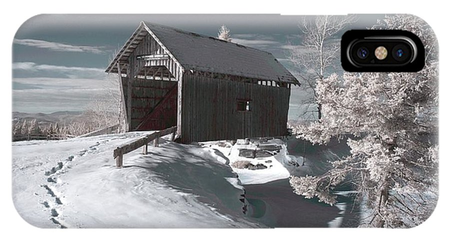 A.m. Foster IPhone X Case featuring the photograph A.m. Foster Covered Bridge Infrared by James Walsh