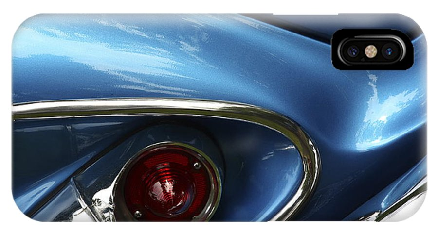 Classic Car IPhone X Case featuring the photograph Am I Blue by Rebecca Cozart