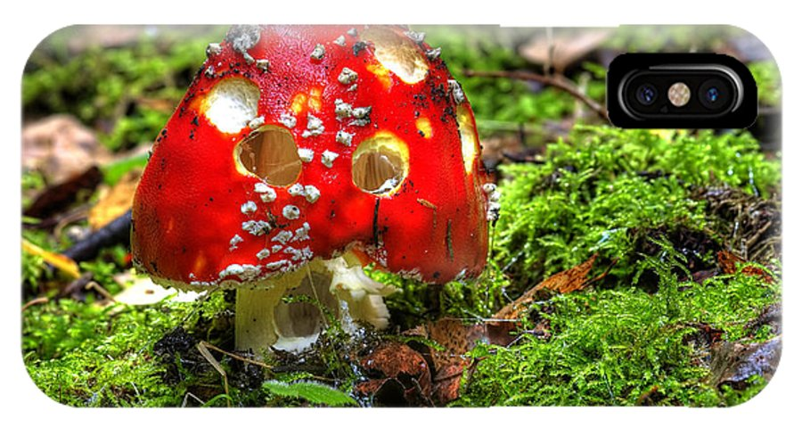 Amanita Muscaria IPhone X Case featuring the photograph Amanita Muscaria by Michal Boubin