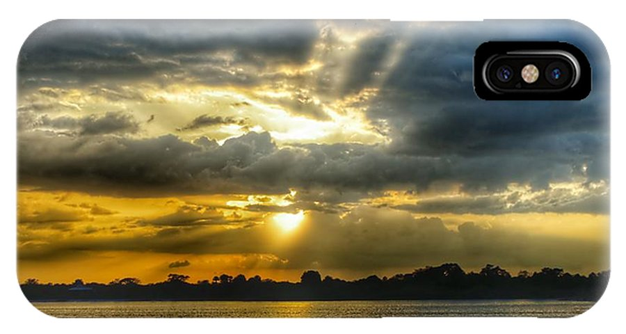 Sunset IPhone X Case featuring the photograph Amazing Rays by Glenn Forman