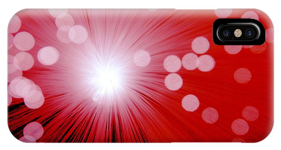 Abstract IPhone Case featuring the photograph Amazing Red by Steve Somerville