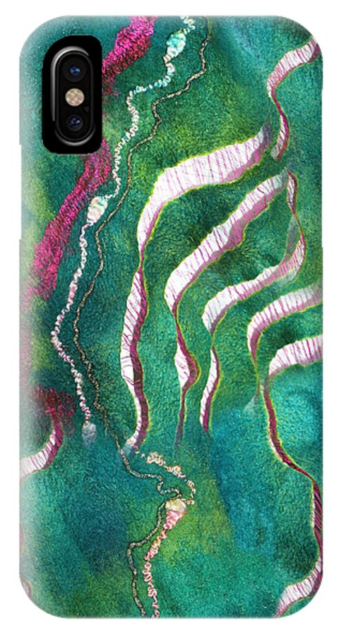 Russian Artists New Wave IPhone X Case featuring the painting Amazon River by Marina Shkolnik