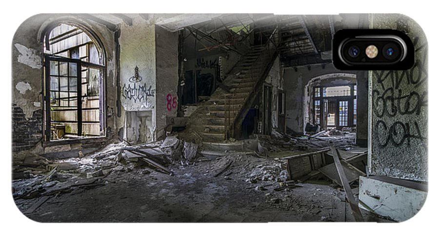 Gary Indiana IPhone X / XS Case featuring the photograph Ambassador Apartments May 11 2015 001 by Chuck Walla