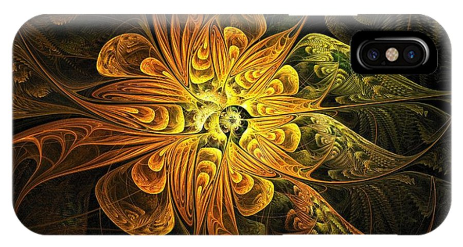 Digital Art IPhone Case featuring the digital art Amber Light by Amanda Moore