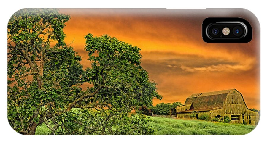 Landscapes IPhone X Case featuring the photograph Amber Skies by Jan Amiss Photography