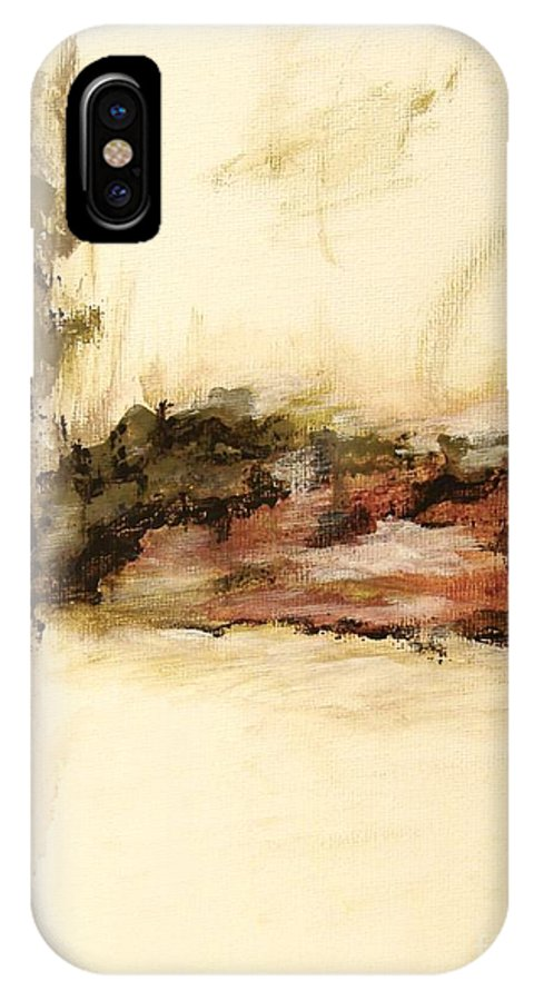 Abstract IPhone X Case featuring the painting Ambiguous by Itaya Lightbourne