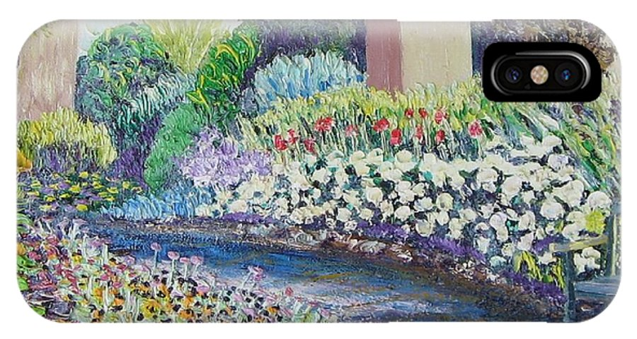 Flowers IPhone X / XS Case featuring the painting Amelia Park Pathway by Richard Nowak