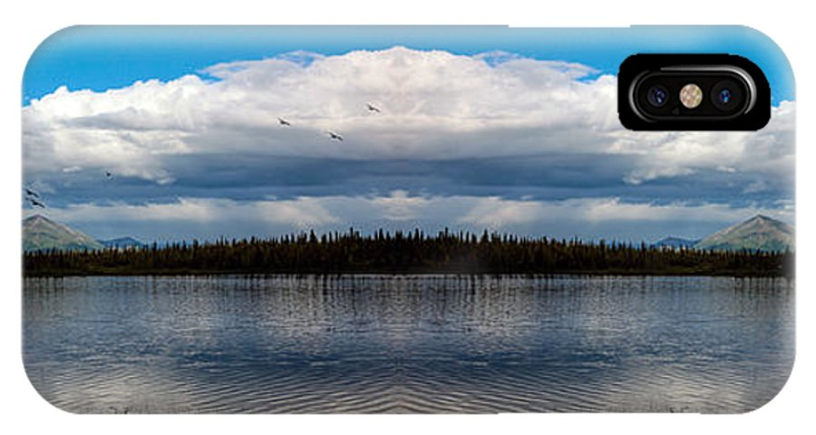 Alaska IPhone X Case featuring the photograph America The Beautiful 2 - Alaska by Madeline Ellis
