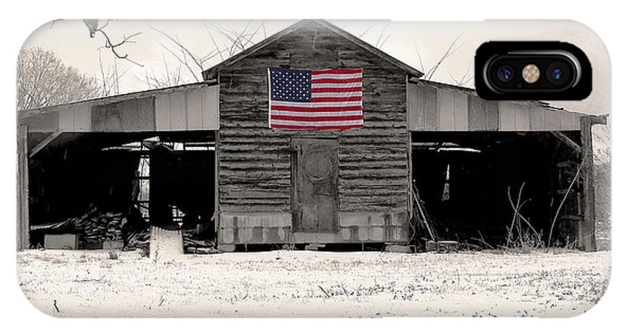 Barn IPhone X Case featuring the photograph American Barn by Phil Rowe