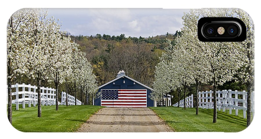 Spring IPhone Case featuring the photograph American Barn by Tom Heeter