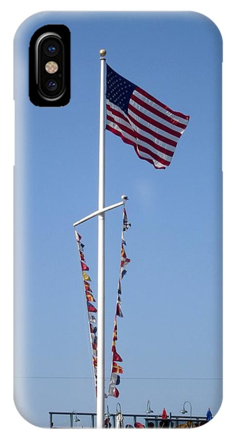 American Flag IPhone Case featuring the photograph American Flag by Shelley Jones