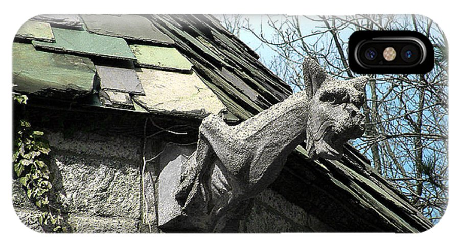Architecture IPhone X Case featuring the photograph American Gargoyle by RC DeWinter
