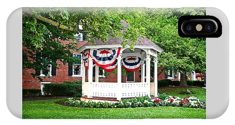 Gazebo IPhone X Case featuring the photograph American Gazebo by Margie Wildblood