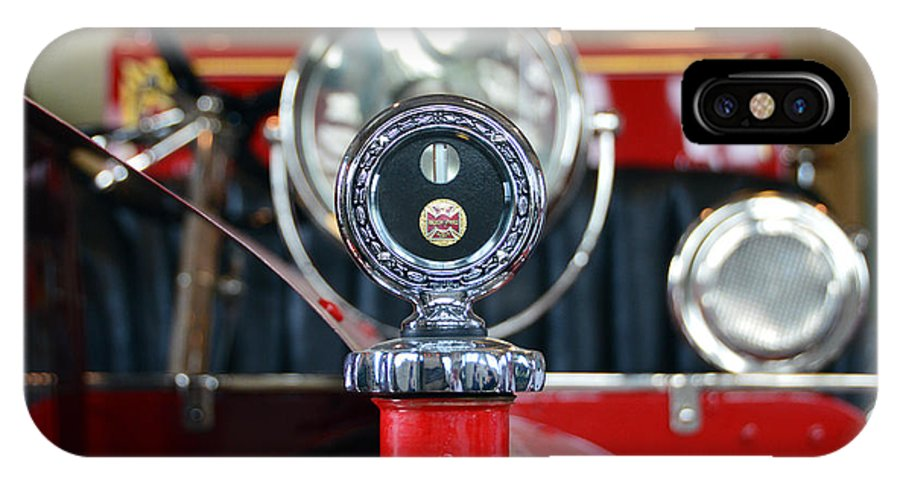 Kansas Firefighters Museum IPhone X Case featuring the photograph American Lafrance Vintage Fire Truck Gas Cap by Catherine Sherman
