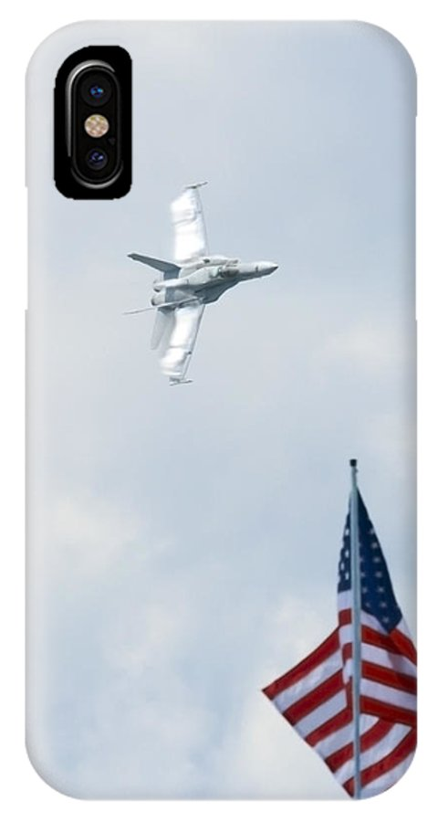 Us IPhone X Case featuring the photograph American Pride by Travis Rogers