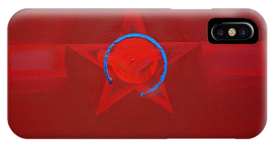Usaaf Insignia IPhone X Case featuring the painting American Sky Blue by Charles Stuart