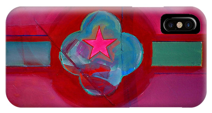Star IPhone X Case featuring the painting American Spiritual Decal by Charles Stuart