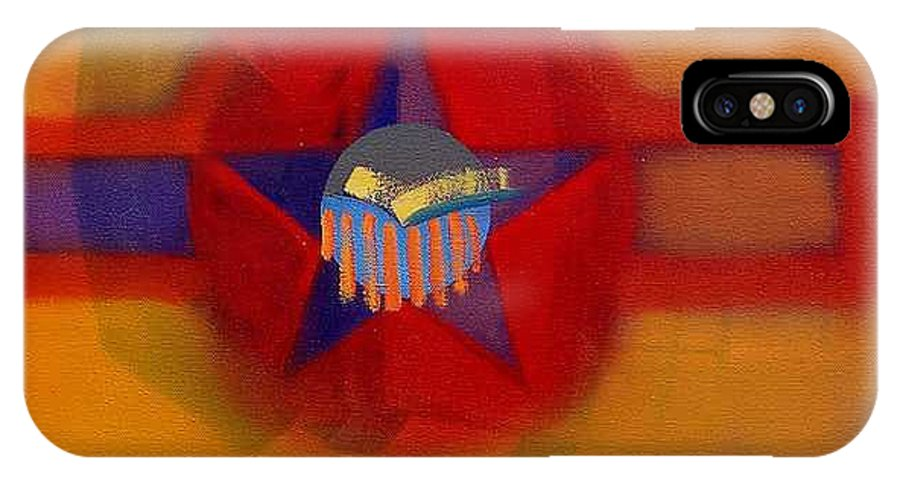 Usaaf Insignia And Idealised Landscape In Union IPhone X Case featuring the painting American Sub Decal by Charles Stuart