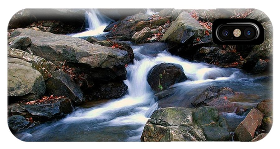 Water IPhone X Case featuring the photograph Amicalola Stream by Robert Meanor
