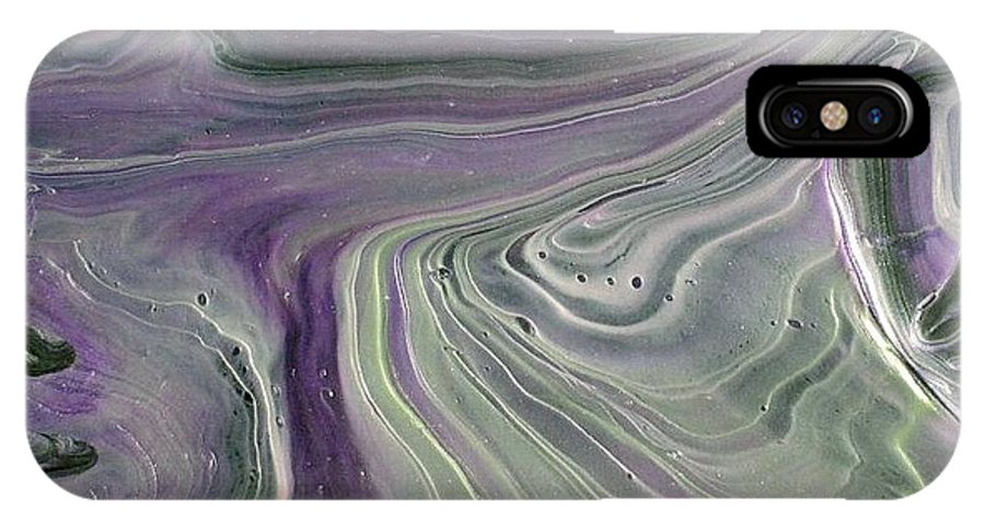 Abstract IPhone X Case featuring the painting Amore Prima by Patrick Mock