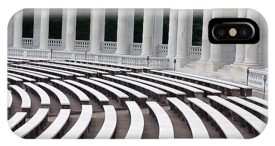 Amphitheatre IPhone X Case featuring the photograph Amphitheatre by Vijay Sharon Govender