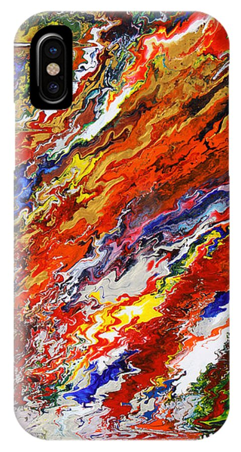 Fusionart IPhone X Case featuring the painting Amplify by Ralph White