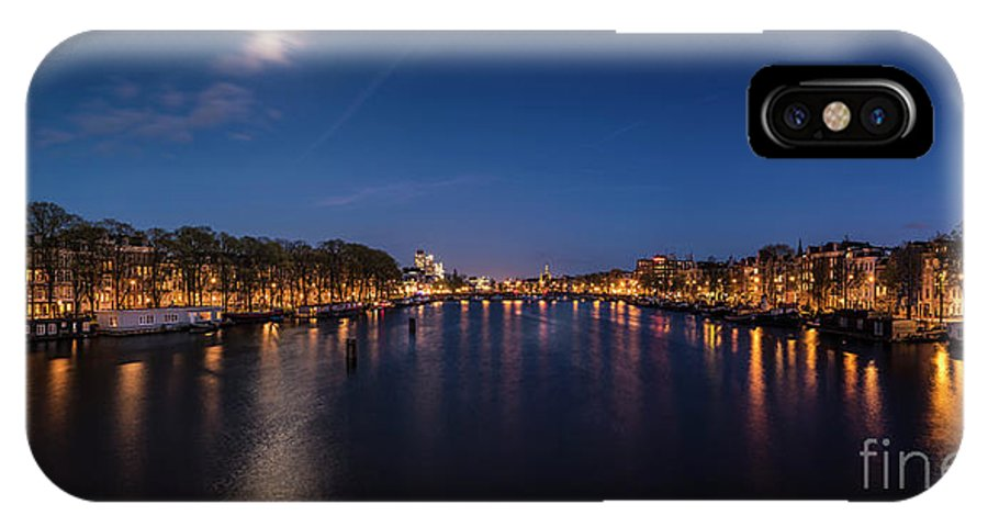 Urban Landscapes IPhone X / XS Case featuring the photograph Amstel 2 by Michael Harris
