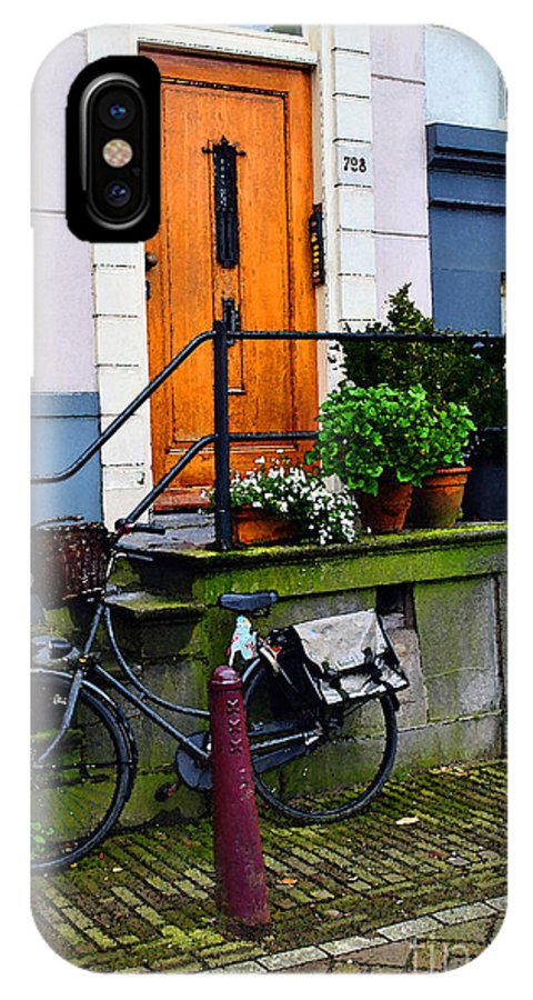 Amsterdam IPhone X Case featuring the photograph Amsterdam Door by Jost Houk