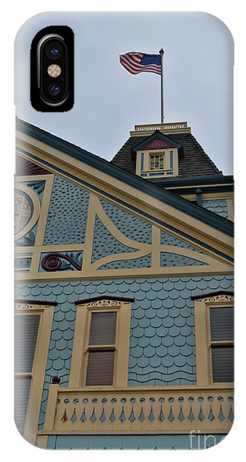America IPhone X Case featuring the photograph An American Victorian by Tommy Anderson