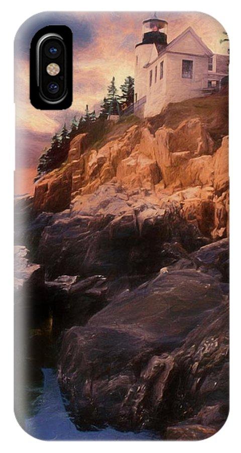 Acadia Nat. Park IPhone X Case featuring the photograph An Art Photograph Of Bass Harbor Lighthouse,acadia Nat. Park Ma by Rusty R Smith