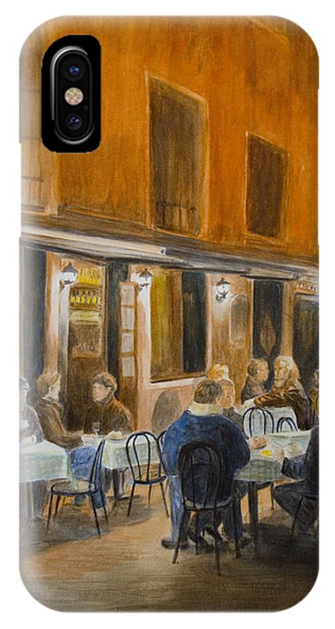 Venice IPhone X Case featuring the painting An Autumn by Nik Helbig
