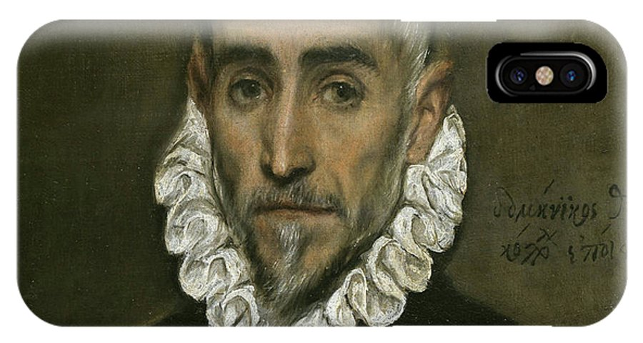 Beard IPhone X Case featuring the painting An Elderly Gentleman by El Greco