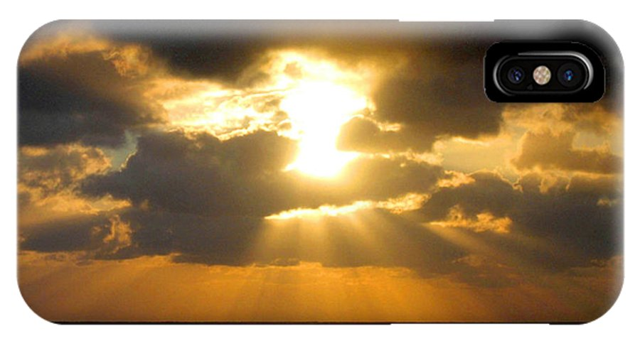 Sunset IPhone X Case featuring the photograph An Inspiring Evening by Will Borden